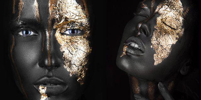 tablouri canvas black & gold