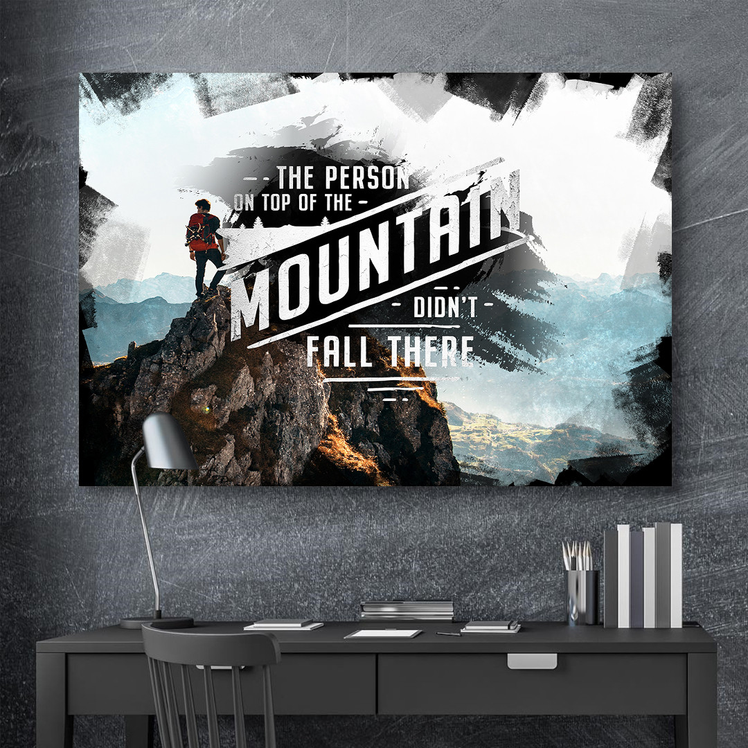 The person on top of the mountain didn't fall there_MNT198_1