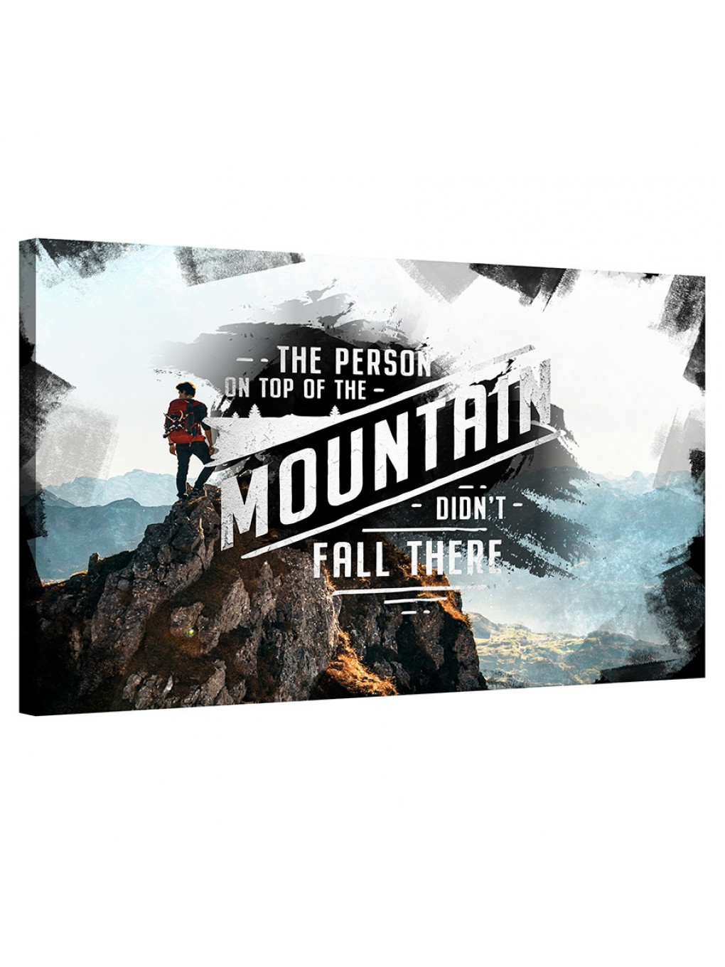 The person on top of the mountain didn't fall there_MNT198_0