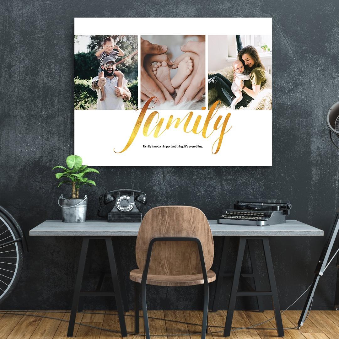 Tablou Personalizat cu 3 poze · Family_CUST337_5