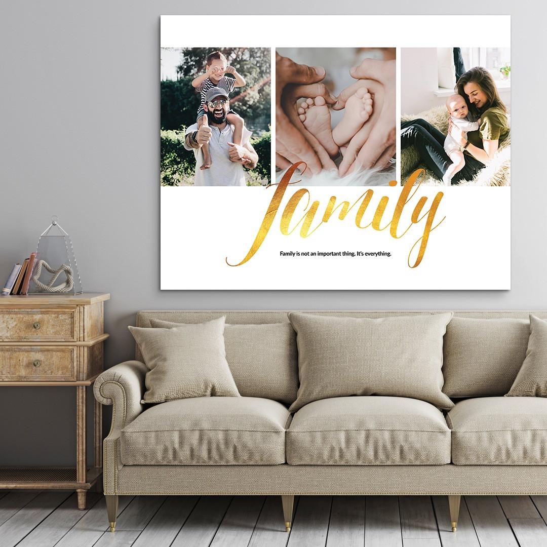 Tablou Personalizat cu 3 poze · Family_CUST337_3