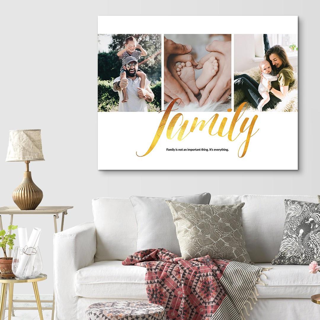 Tablou Personalizat cu 3 poze · Family_CUST337_2