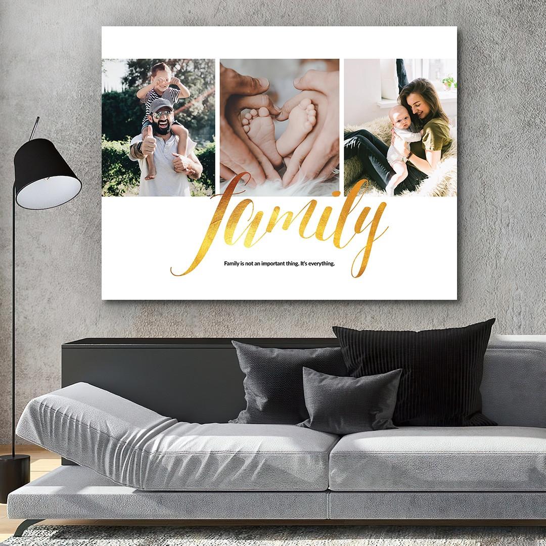 Tablou Personalizat cu 3 poze · Family_CUST337_4