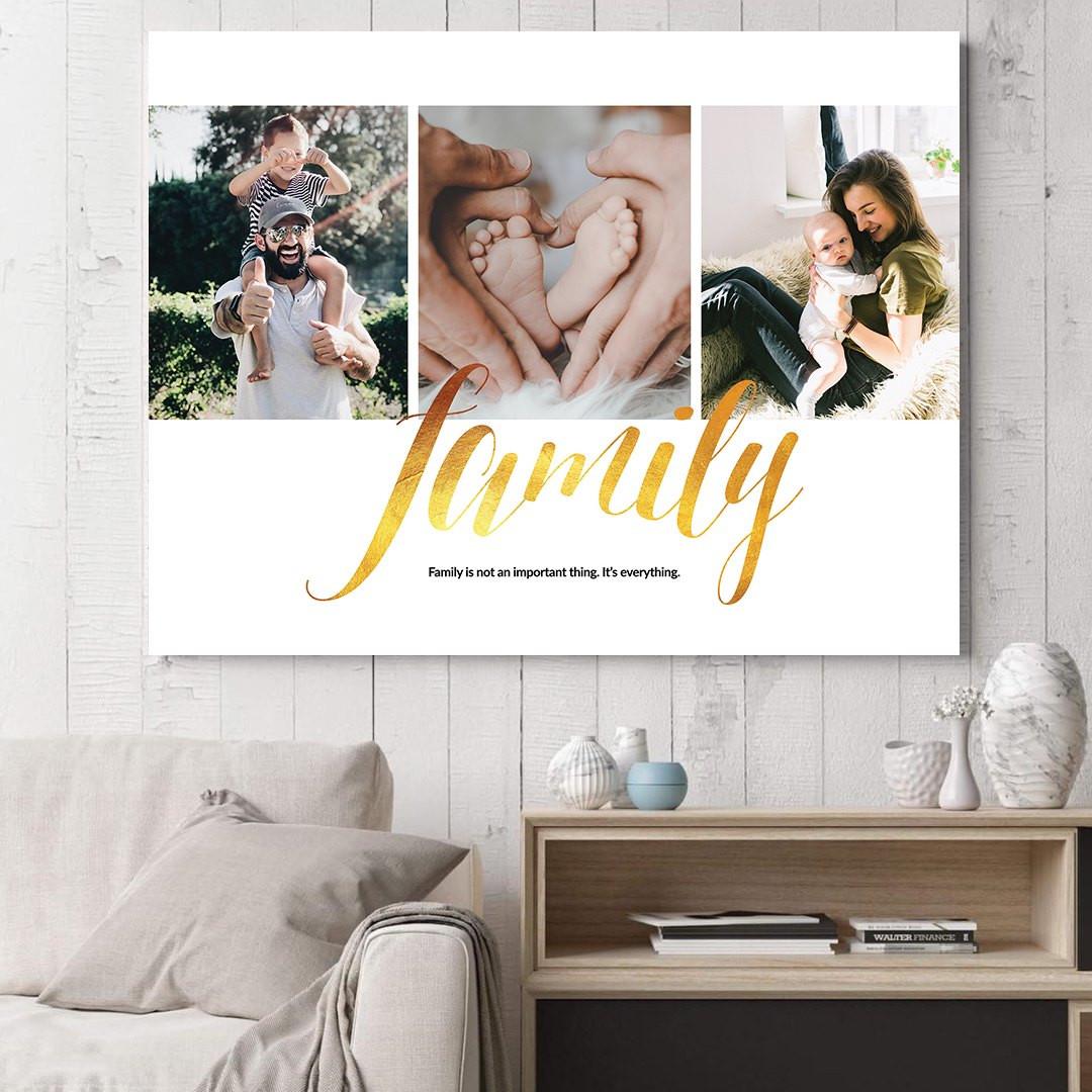 Tablou Personalizat cu 3 poze · Family_CUST337_1
