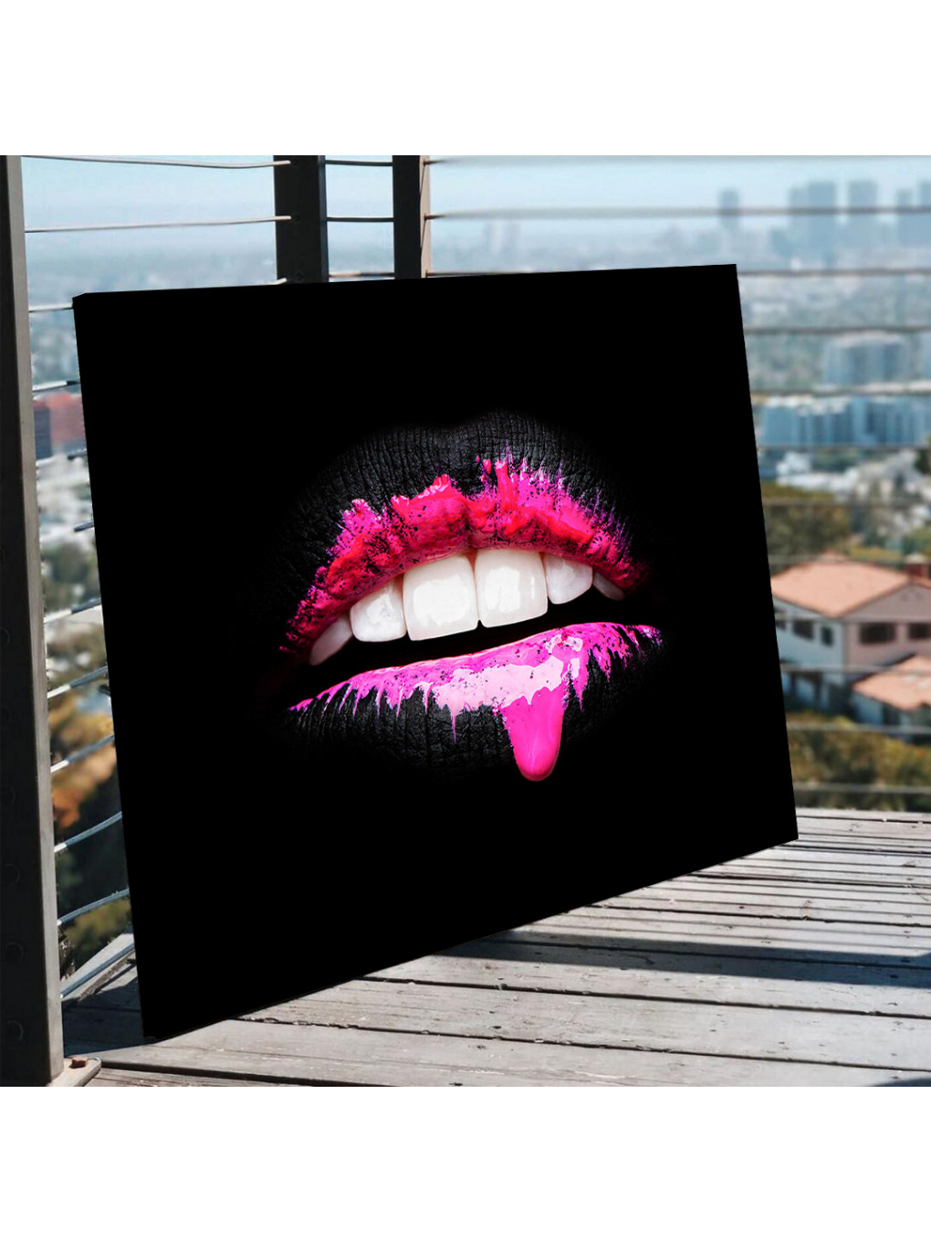 Black and Pink Lips_LIP873_5