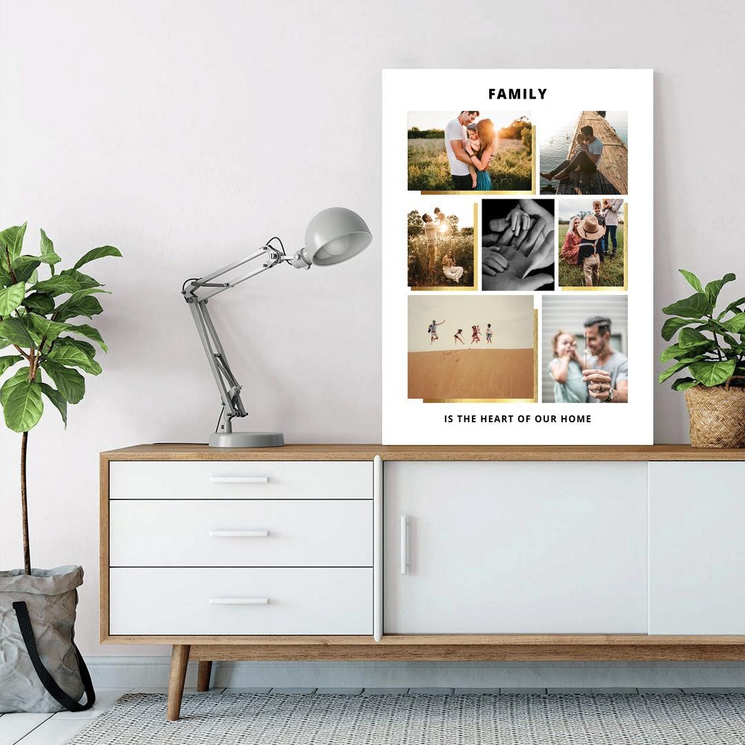 Tablou Personalizat cu 7 poze · Family_CUST439_1