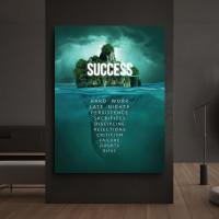 tablou canvas motivational success island