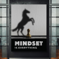 tablou canvas motivational mindset is everything · chess edition