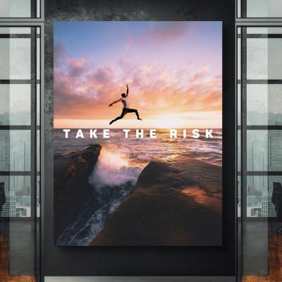 tablou canvas motivational take the risk