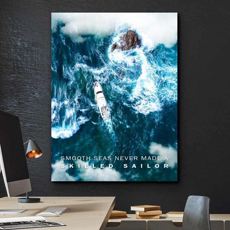 tablou canvas motivational smooth seas