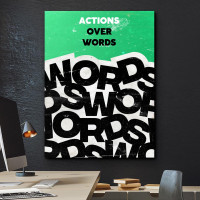 tablou canvas motivational actions over words