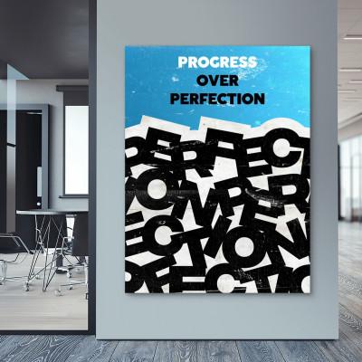 tablou canvas motivational progress over perfection