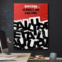 tablou canvas motivational success is built on failure