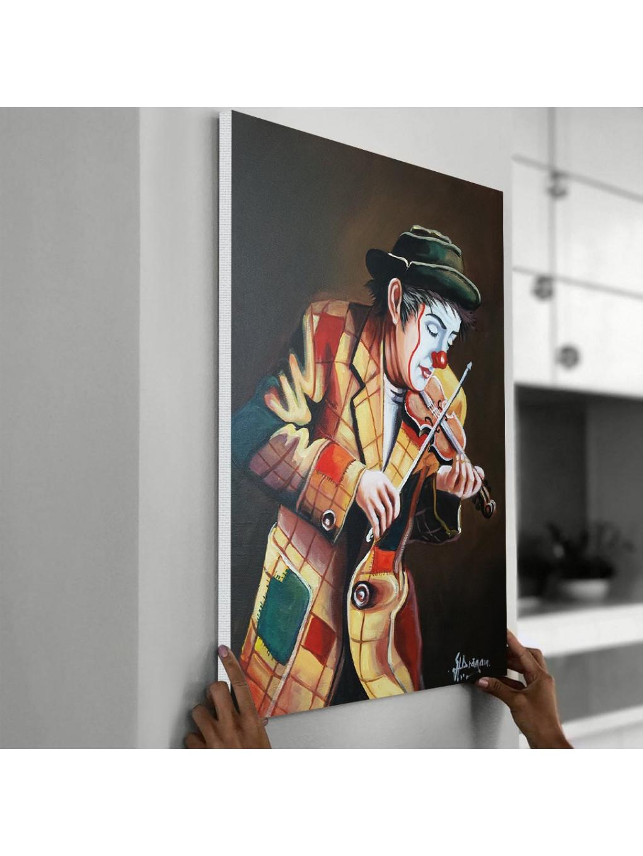 Clown playing on violin_CLN640_4