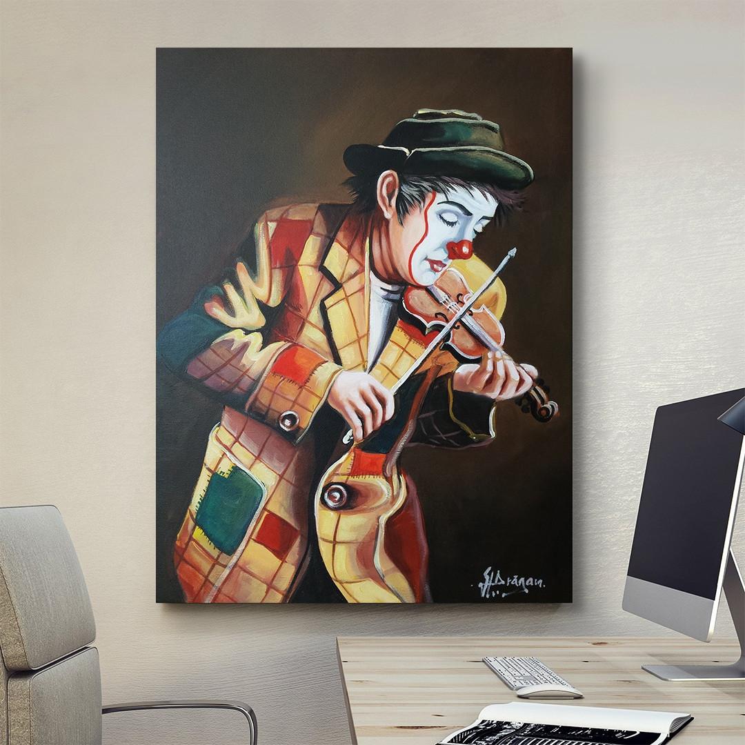 Clown playing on violin_CLN640_1