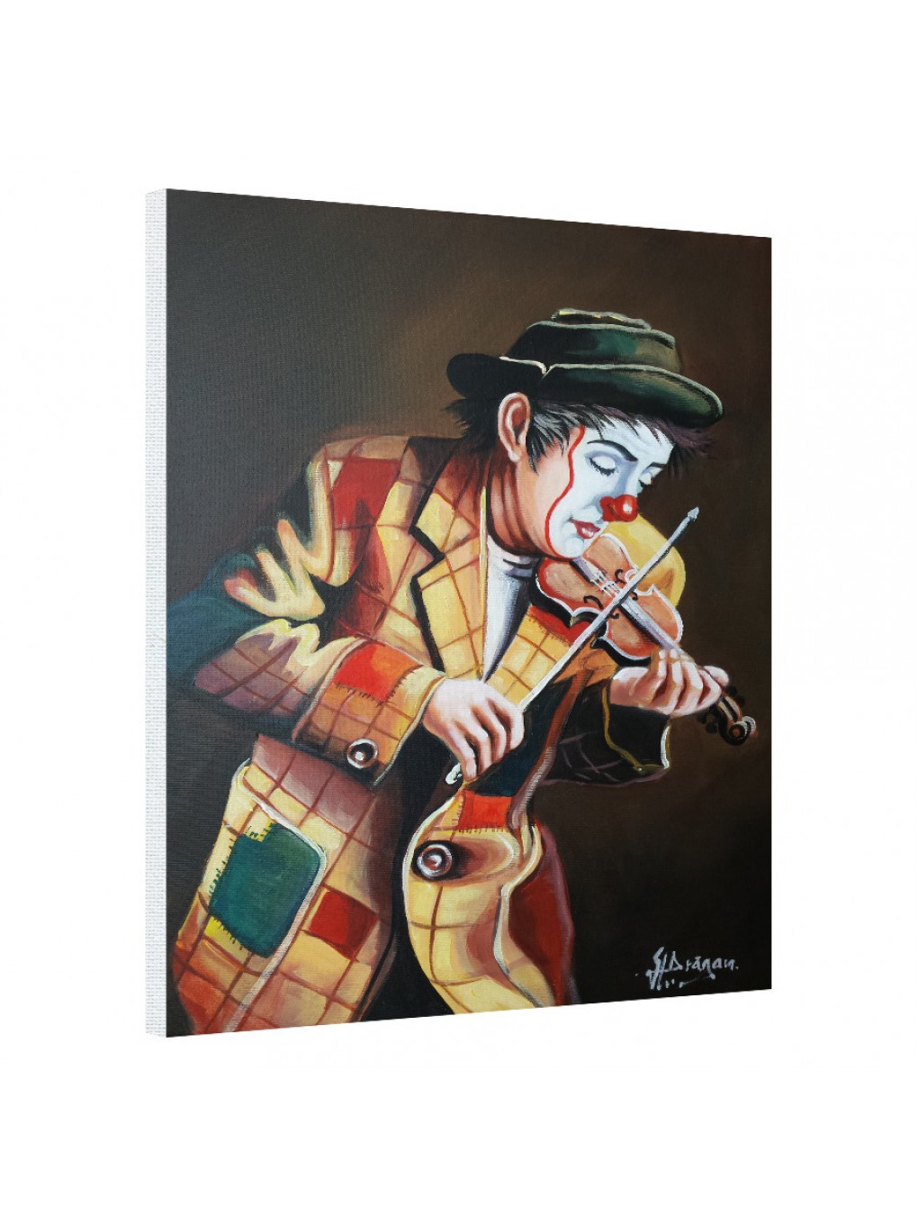 Clown playing on violin_CLN640_0
