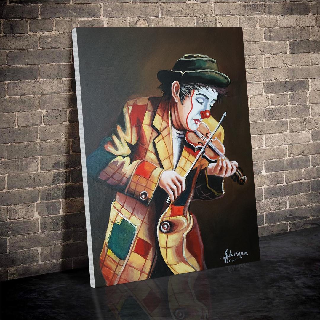 Clown playing on violin_CLN640_2