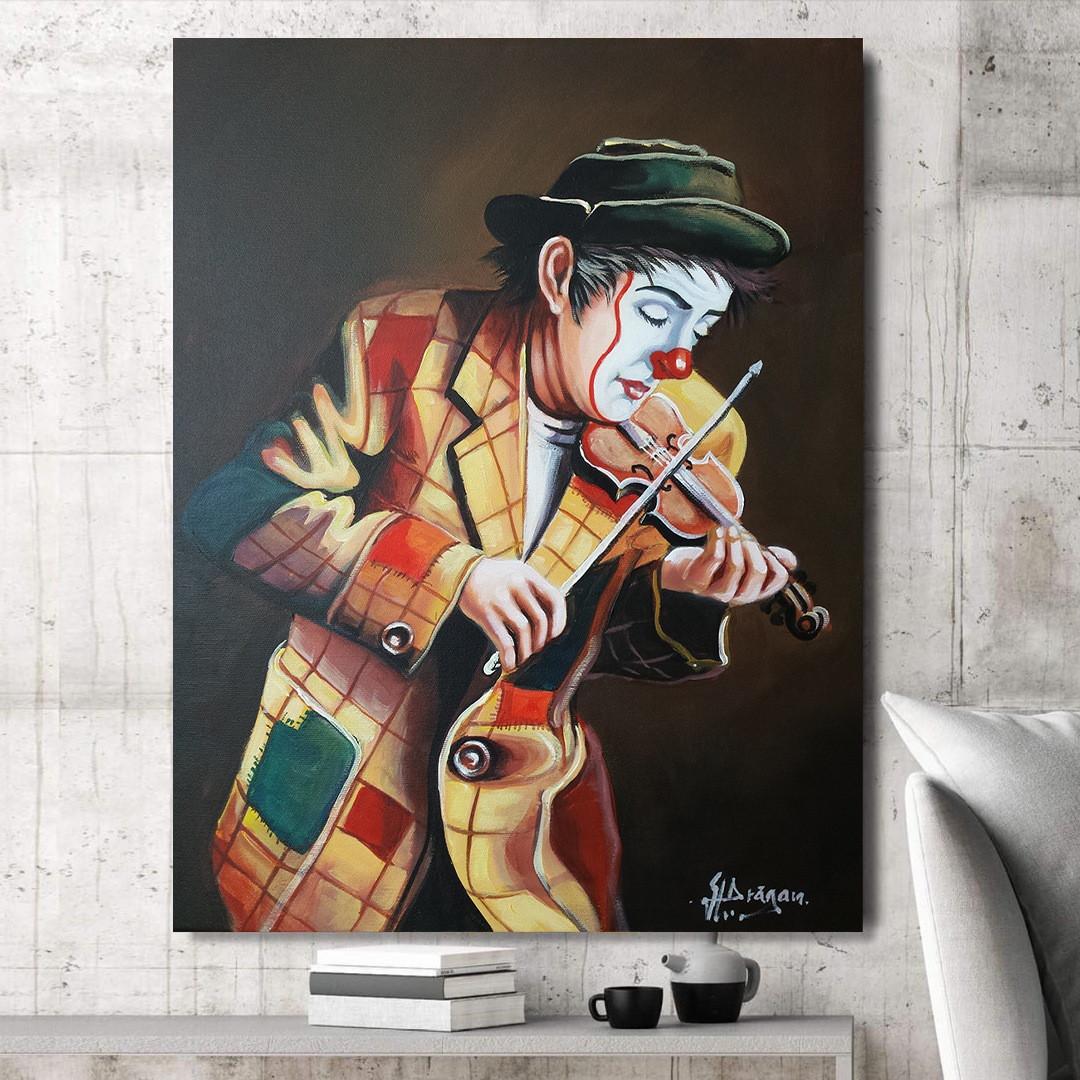 Clown playing on violin_CLN640_3